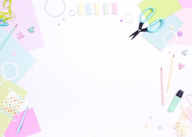 Libro de recortes papel tijeras marcador marcador lápiz corte muere