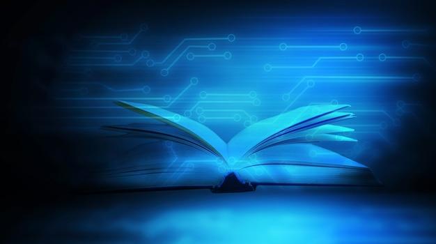 Libro sobre el fondo del microcircuito.