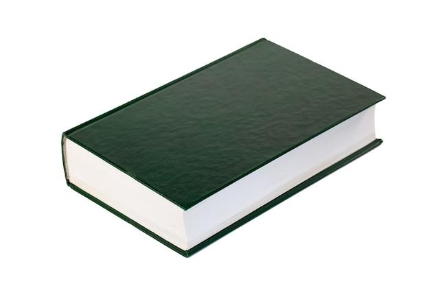 Libro único aislado en blanco, educación