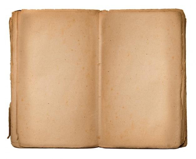 Libro vintage con espacio vacío para escribir