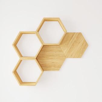 Libros de estantería hexagonal