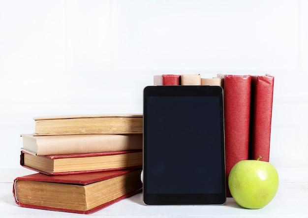 Libros con tableta
