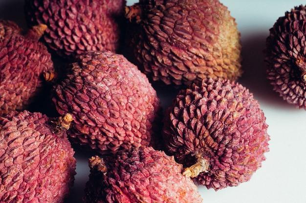 Lichí exótico dulce fruta jugosa