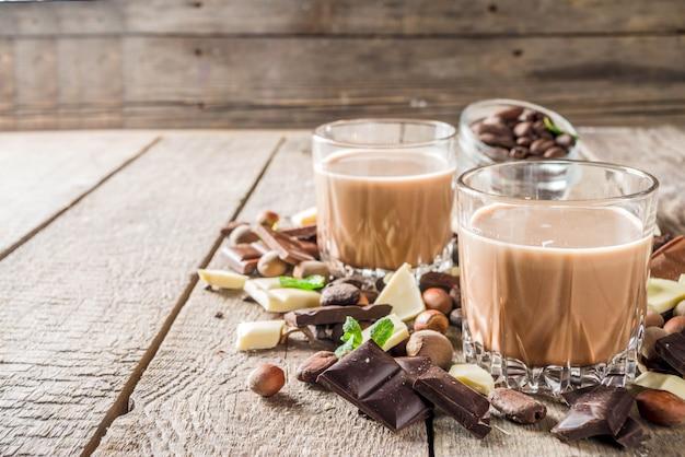 Licor de chocolate dulce