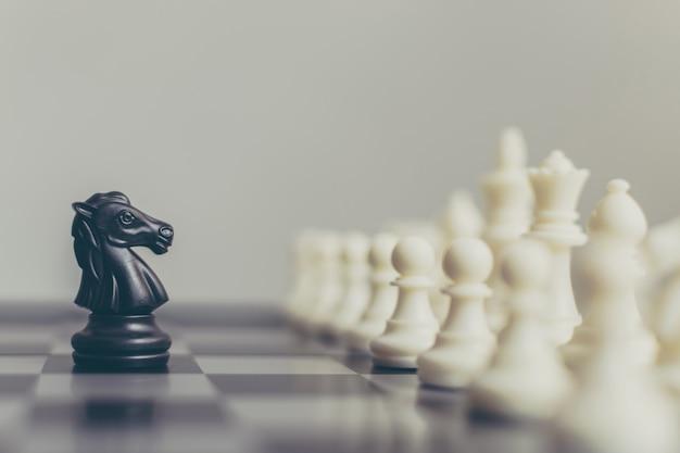 Líder empresarial y confrontación para resolver problemas concepto
