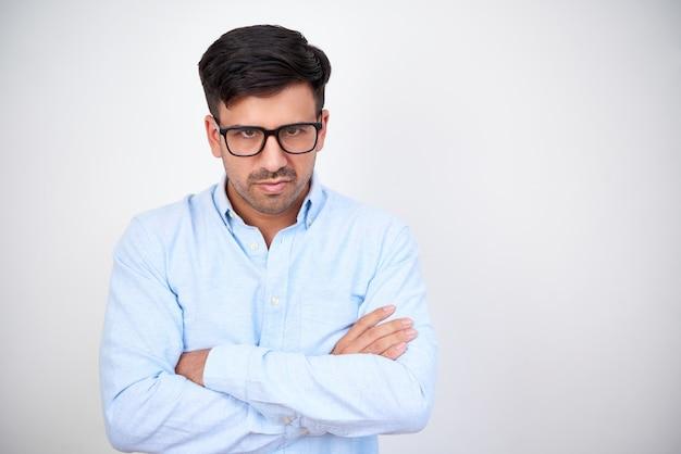 Líder empresarial enojado