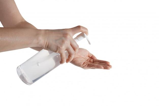 Limpiar a mano para prevenir infecciones.