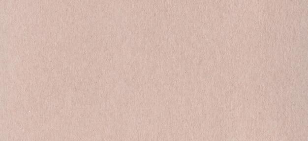 Limpie la textura de fondo de papel de cartón kraft marrón. banner horizontal