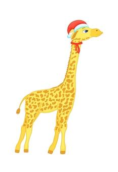 Linda jirafa de navidad.