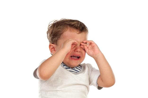Lindo bebé llorando