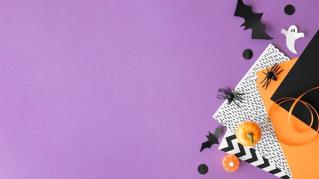 Lindo concepto de halloween con espacio de copia