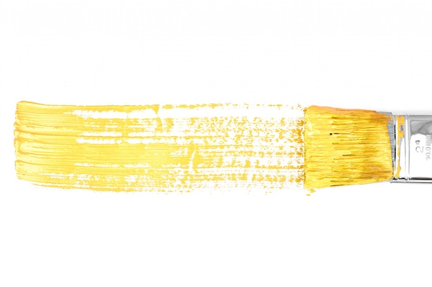 Línea horizontal amarilla de pintura
