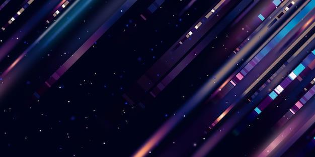 Línea de luz, movimiento rápido, resplandor, línea led, tecnología de movimiento, fondo, ilustración 3d