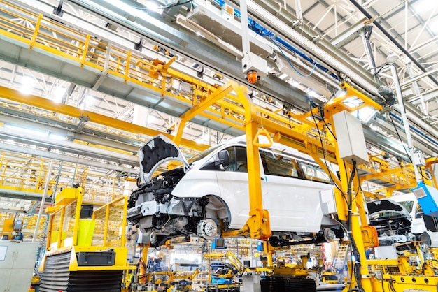 Línea de producción de automóviles.