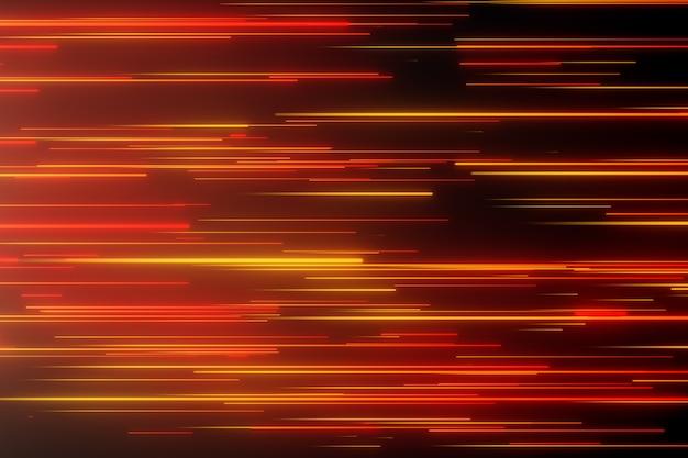 Líneas direccionales de neón abstractas