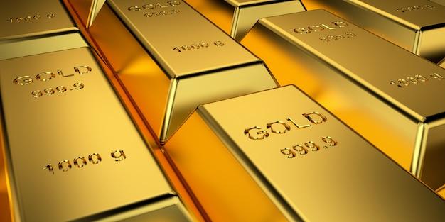 Lingotes de oro para banner de sitio web