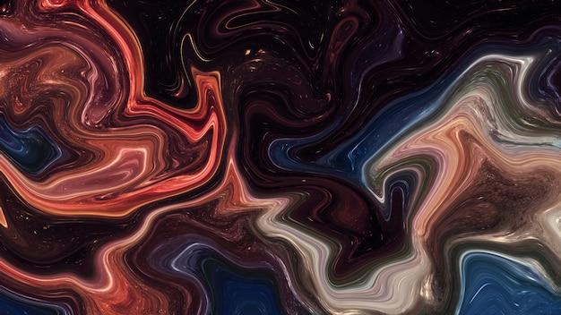 Líquido abstracto, fondo de mármol