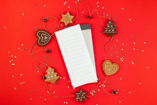 Lista de navidad planificador con purpurina