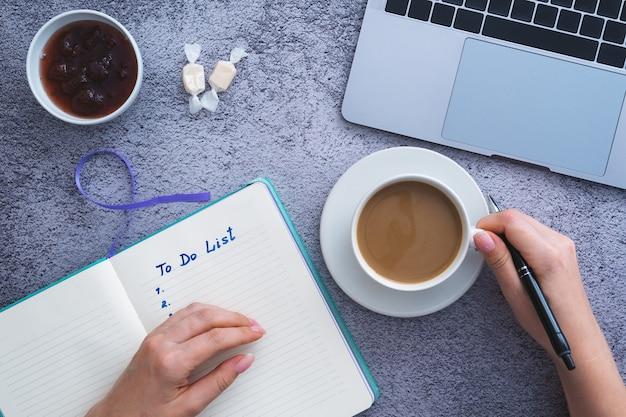 Lista de tareas, lista de tareas o tareas para la planificación del objetivo de vida.