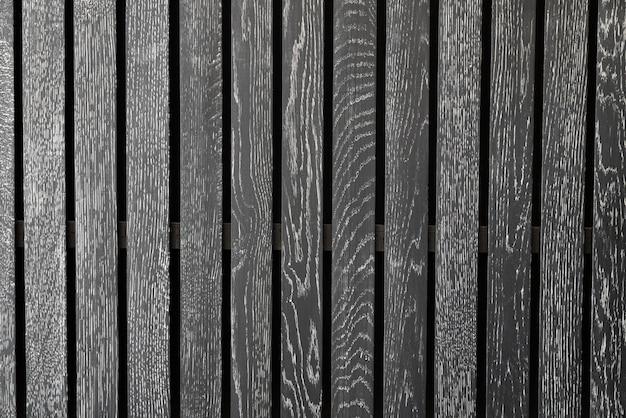 Listones de madera negro