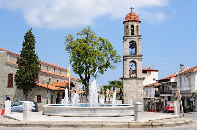 Litochoro, grecia, plaza central