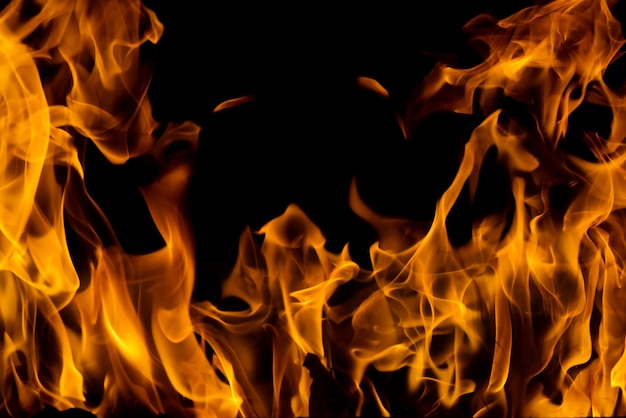 Llama de fuego de fuego de fondo y textura
