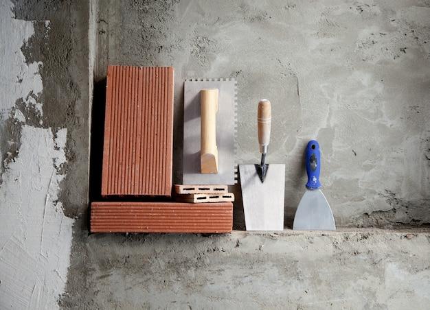 Llana de acero inoxidable para la construcción de herramientas y ladrillos.
