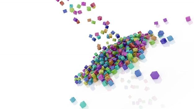 Lluvia de cuadrados de colores