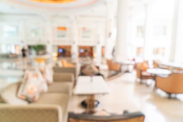 Lobby del hotel de lujo borroso abstracto