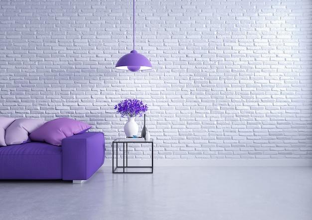 Loft moderno interior de sala de estar.