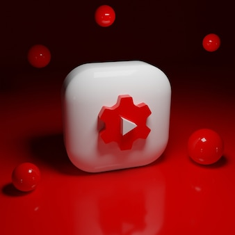 Logotipo de la aplicación de estudio de youtube 3d