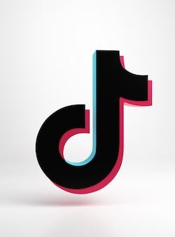 Logotipo de la aplicación tik tok diseño minimalista simple