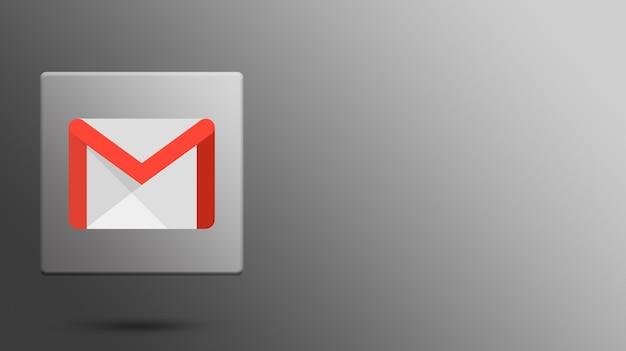 Logotipo de gmail en plataforma 3d