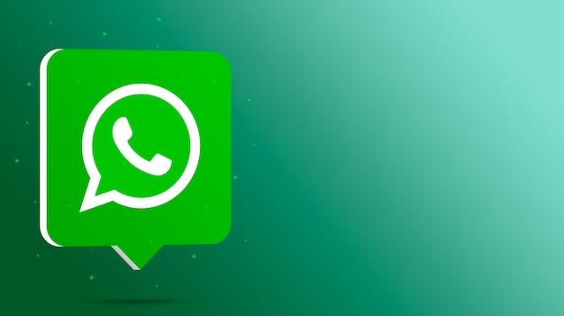 Logotipo de whatsapp en el bocadillo de diálogo 3d
