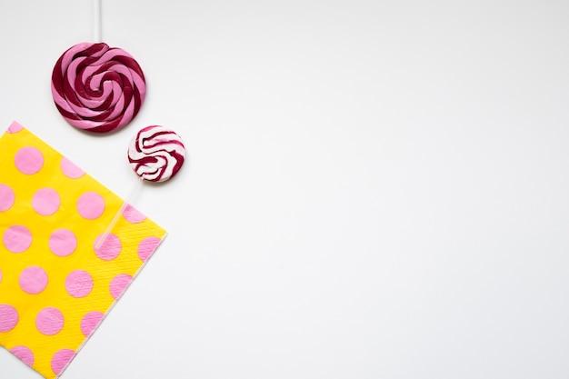 Lollipops y servilletas