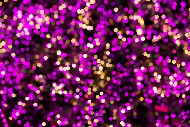Luces de bokeh abstractas de color rosa. vistoso. fondo desenfocado