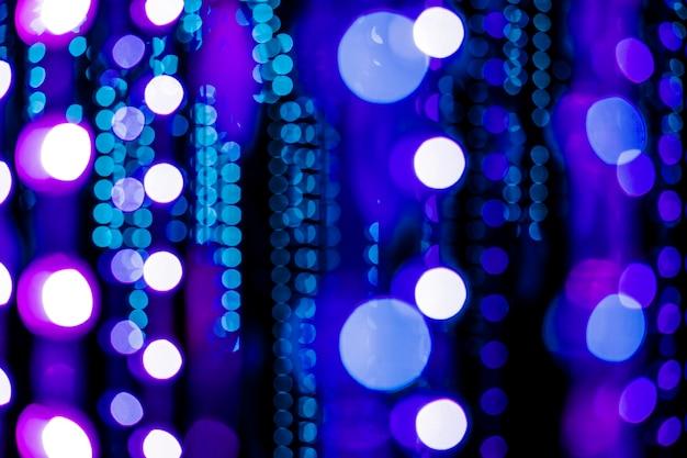 Luces bokeh azul