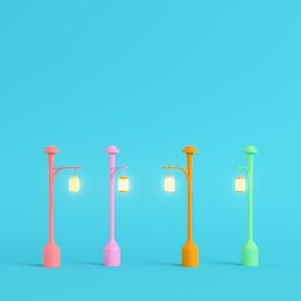 Luces de calle de renderizado 3d