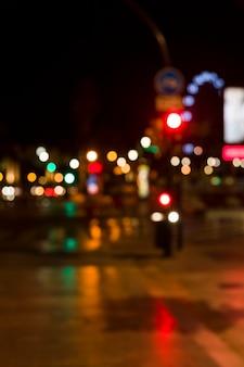 Luces de ciudad borrosas