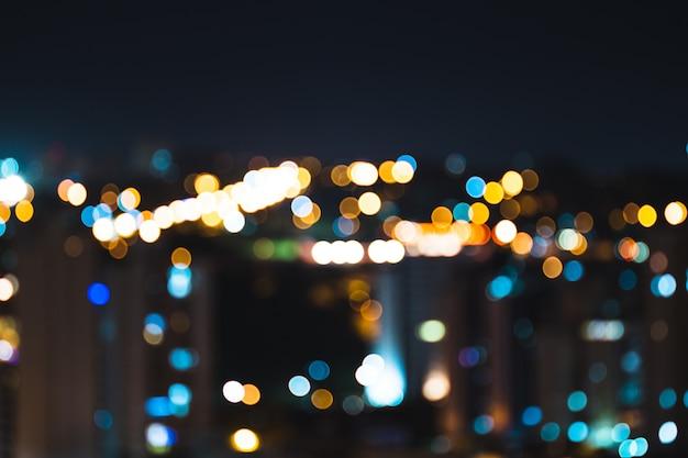 Luces de la ciudad de color bokeh