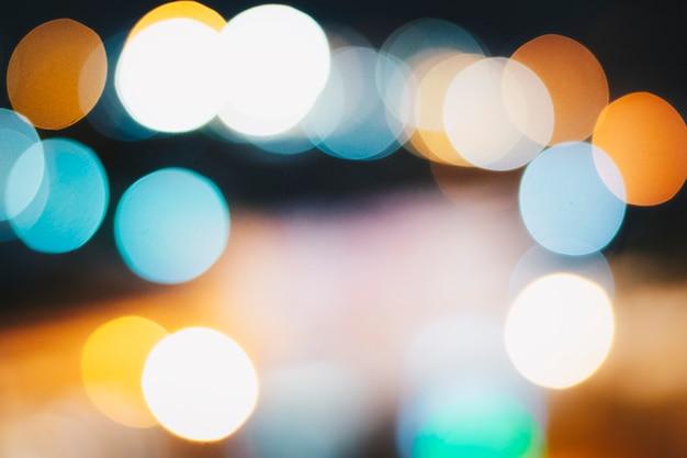Luces de la ciudad de noche bokeh, luces bokeh borrosa