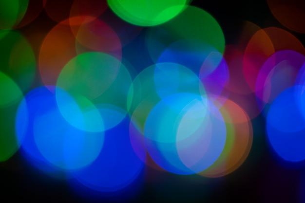 Luces de colores abstractos bokeh