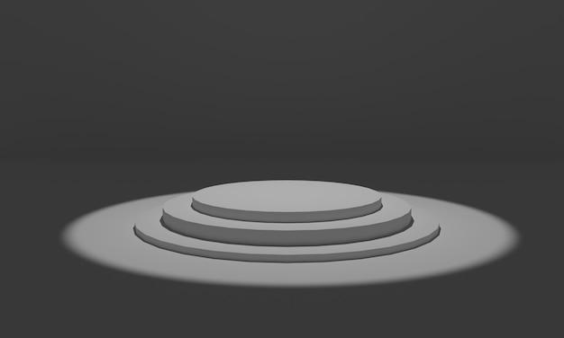 Luces del estadio. ilustración de renderizado 3d