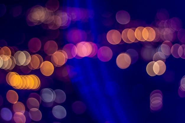 Luces en el fondo nocturno