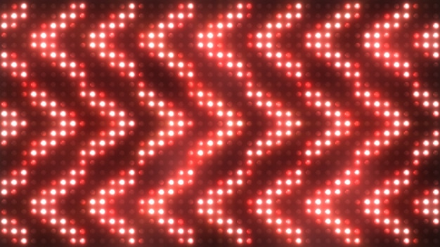 Luces intermitentes coloridas con foco de humo luces de inundación flecha vj led etapa de pared pantalla led luces intermitentes. ilustración 3d
