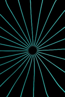 Luces de neón azul claro sobre fondo negro