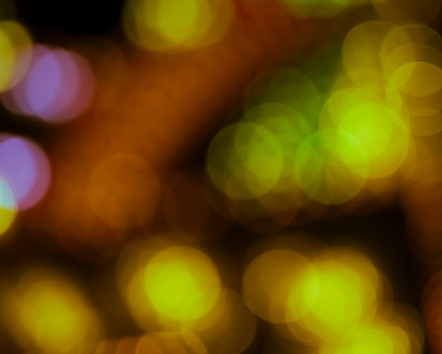 Luces de neón coloridas fuera de foco bokeh