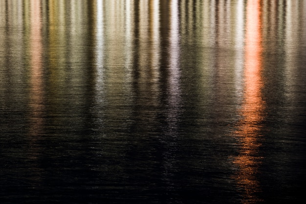 Luces reflejadas en el agua