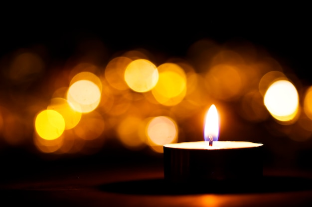 Luces de la vela de navidad fondo perfecto para un texto