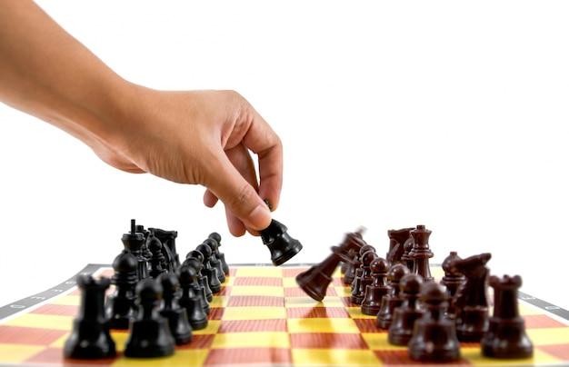 La lucha del caballero estratégica batalla atrapado